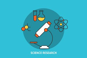 Science research concept