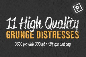 11 High Quality Grunge Distress Set