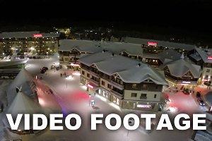 Aerial view of Ruka winter resort