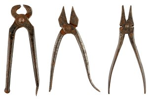 Old rusty pliers