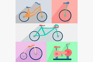 Flat set bicycles, exercise bike