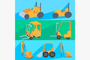 Set flet construction machinery