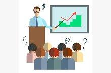 Businessman speech infographics