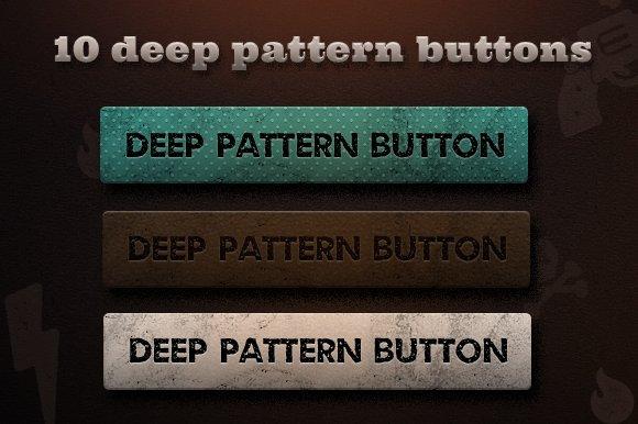 10 Deep Pattern Buttons (.psd) - Web Elements