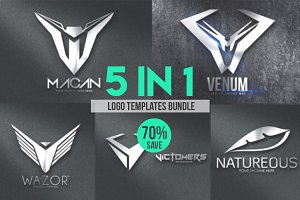 5in1 Logo Templates Bundle