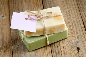 Two natural soap bars