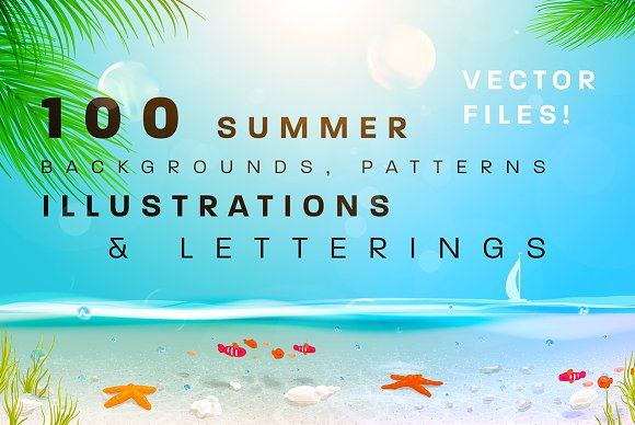 100 summer backgrounds vector illustrations creative market voltagebd Images
