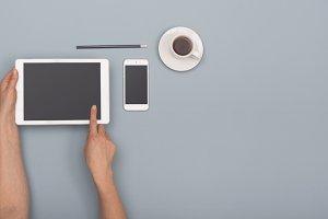 Tablet and smartphone hero header
