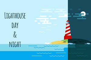 Lighthouse: day & night