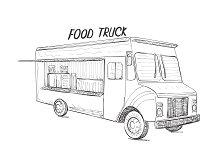Food Truck Sketch