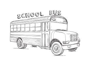 School Bus. Transport