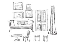 Hand Drawn Furniture Sketch