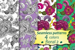 Seamless abstract floral pattern №2.