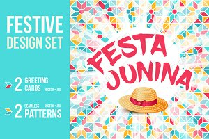 FESTA JUNINA cards and patterns