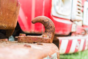 Rusty towing hook