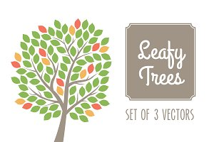 Leafy Trees Vector