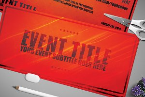 2 Sided Multipurpose Event Ticket