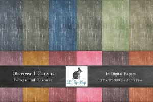Distressed Canvas BackgroundTextures