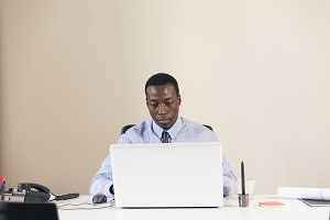 African Businessman Working.