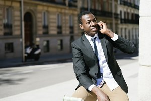 African Business Man in the Street.