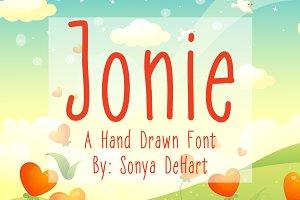 Jonie A Hand Drawn Font