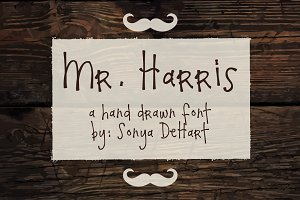 Mr. Harris A Hand Drawn Font