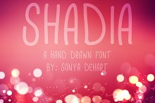Shadia A Hand Drawn Font