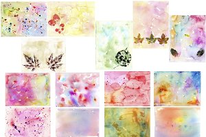 Watercolor raster/vector backgrounds