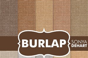 High Res Digital Burlap Textures