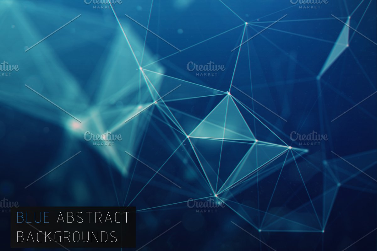 20 Abstract Blue Background Web Elements Creative Market