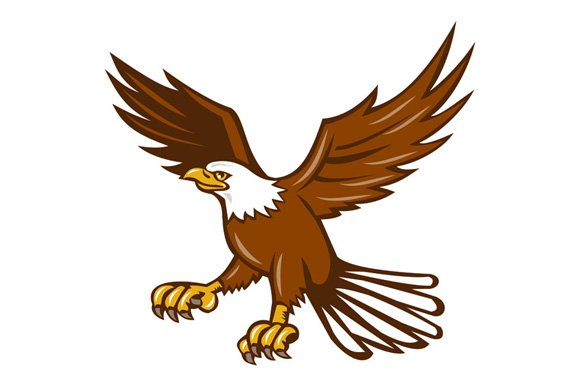American Eagle Swooping Isolated ~ Illustrations ...  Baby