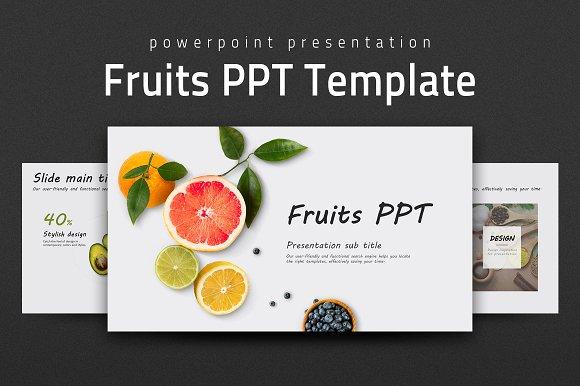 fruits ppt template presentation templates creative market