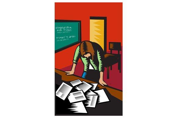 Depressed Female School Teacher
