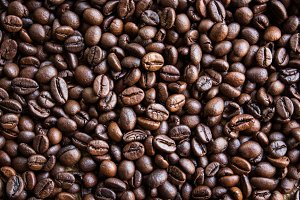 Roasted coffee beans,background