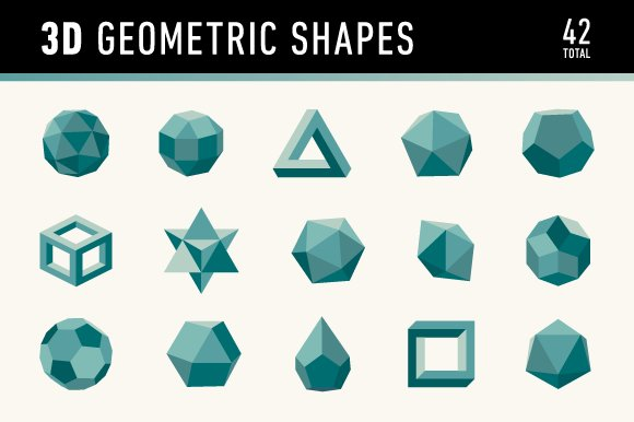 3D Geometric Shapes ~ Graphics ~ Creative Market