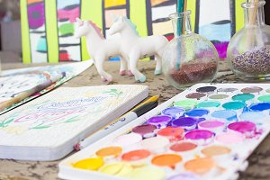 Colorful Artist Watercolor Pictures