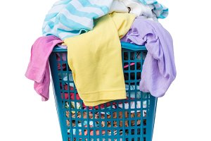 Clothes in a washing basket