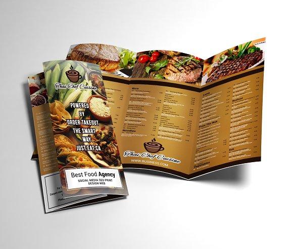 Restaurant Menu Tri-fold Brochure
