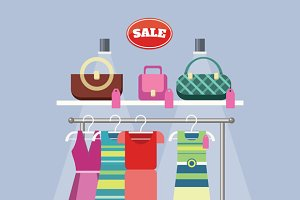 Sale Item Handbags and Clothing