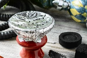 Hookah bowl with tobacco