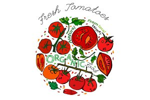 Vector Tomato Pattern