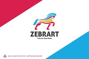 Colorful Zebra Logo Template