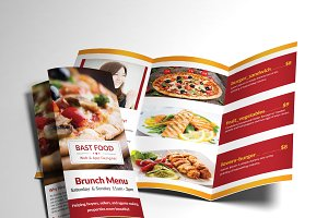 Food Menu Trifold Broshure