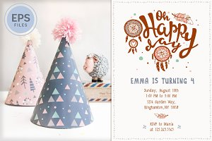 SAVE 40% • Boho Birthday Party Kit