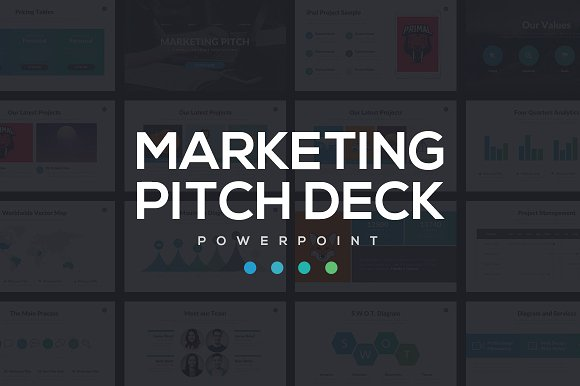 marketing pitch deck powerpoint presentation templates creative