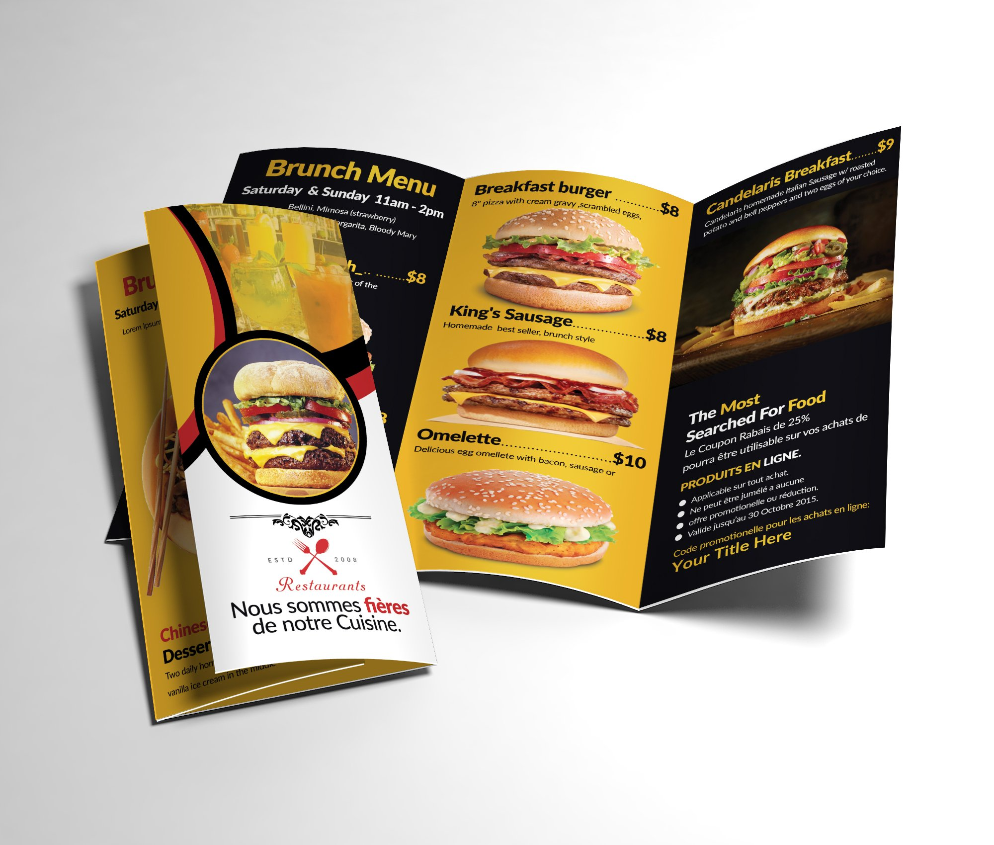 Healthy Food Menu Brochure Trifold ~ Brochure Templates ... - photo#21