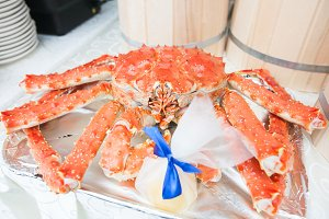 Whole Hot Steamed king Crab