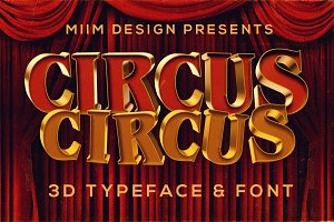 CircusCircus - 3D Lettering & Font