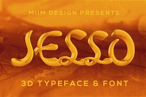 Jello - 3D Lettering & Font