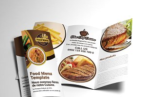 Trifold Brochure Restaurant Cafe